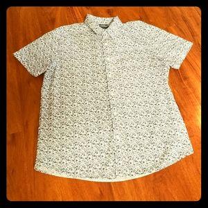 Mens American Rag Blue/White Speckled Print Shirt